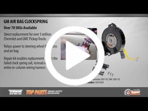 dorman gm wiring harness clip air bag clockspring 525 039 airbag clock spring dorman products  air bag clockspring 525 039 airbag